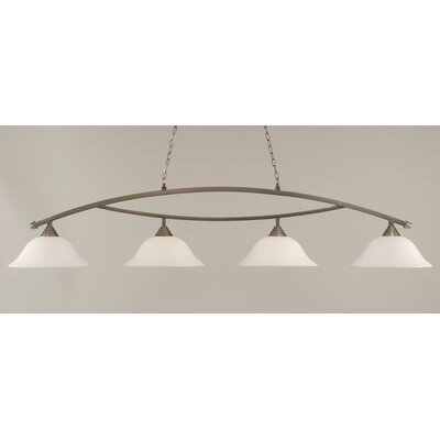 Blankenship 4-Light Billiard Light Finish: Brushed Nickel, Shade Color: White