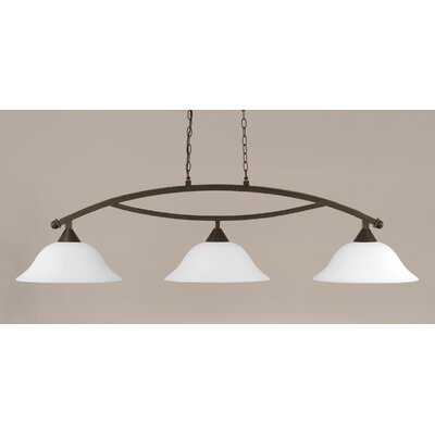 Blankenship 3-Light Billiard Light Shade Color: White, Finish: Dark Granite