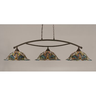 Austinburg 3-Light 150W Kitchen Island Pendant Color: Dark Granite