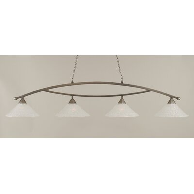 Eisenhauer 4-Light Metal Kitchen Island Pendant Finish: Brushed Nickel