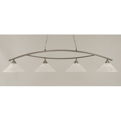 Eisenhauer 4-Light Billiard Light Finish: Brushed Nickel