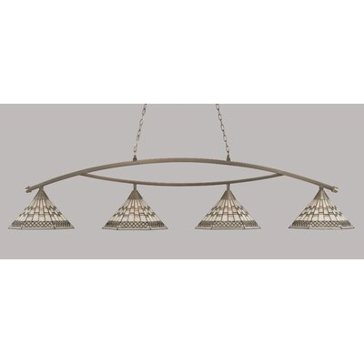 Essonnes 4-Light Brushed Nickel Billiard Light