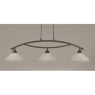 Bow 3-Light Downlight Kitchen Island Pendant Finish: Bronze