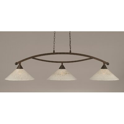 Blankenship 3-Light 150W Kitchen Island Pendant Color: Bronze