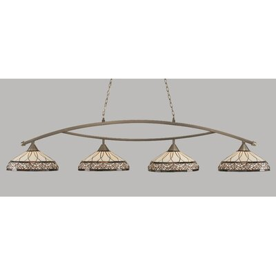 Austinburg 4-Light Metal Billiard Light Color: Brushed Nickel