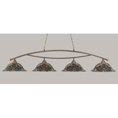 Bow 4-Light Kitchen Island Pendant Finish: Brushed Nickel