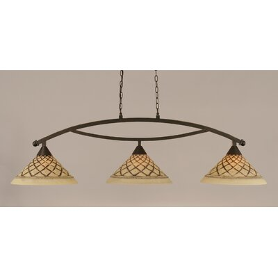 Bow 3-Light Billiard Light Finish: Dark Granite