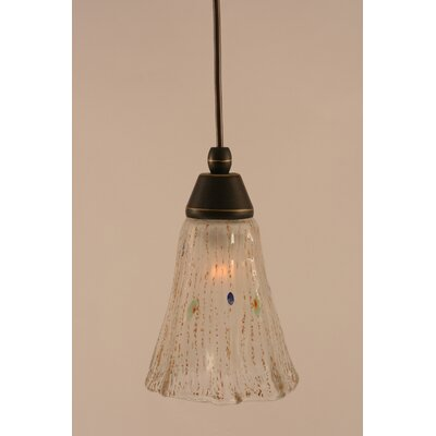 1-Light Mini Pendant Shade Color: Frosted