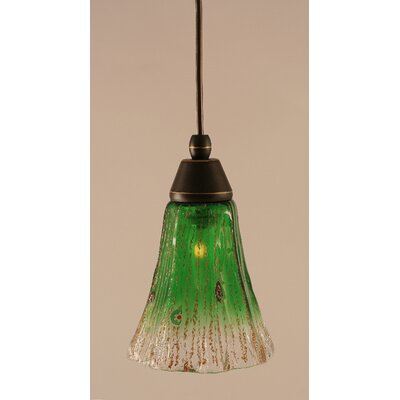 1-Light Mini Pendant Shade Color: Kiwi Green
