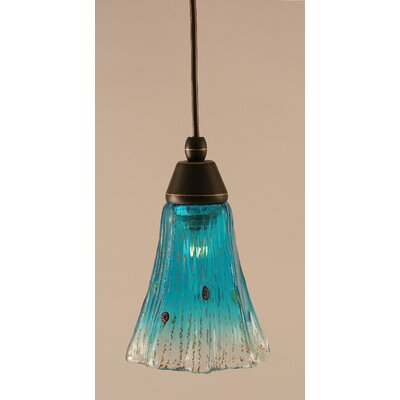 1-Light Mini Pendant Shade Color: Teal