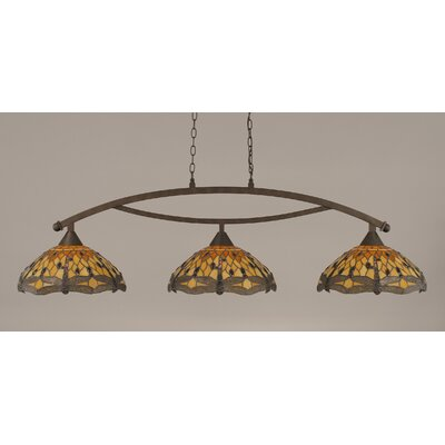 Quinn 3-Light Billiard Light Finish: Bronze