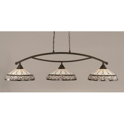 Austinburg 3-Light 150W Billiard Light Finish: Dark Granite