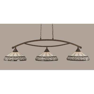 Austinburg 3-Light 150W Billiard Light Color: Bronze