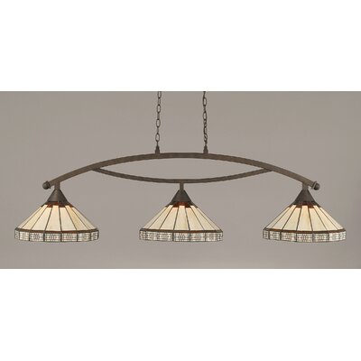 Essonnes 3-Light Billiard Light Finish: Bronze