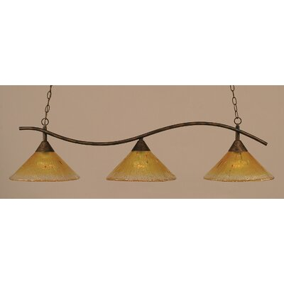 Swoop 3-Light Kitchen Island Pendant Shade Color: Gold
