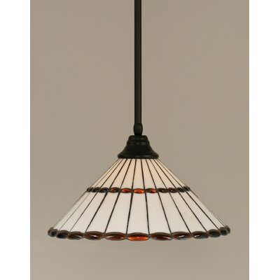Stem 1-Light Mini Pendant Shade Color: Honey and Amber Brown