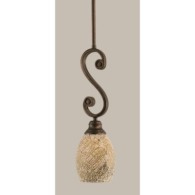 Babin 1-Light Mini Pendant Shade Color: Natural