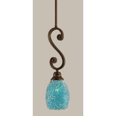 Babin 1-Light Mini Pendant Shade Color: Turquoise