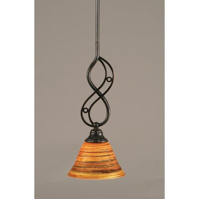 Jazz 1-Light Mini Pendant Size: 15.5 H x 7 W