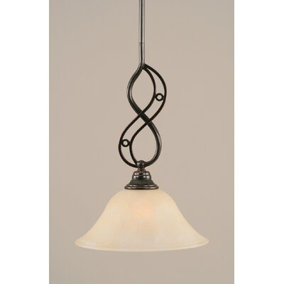 Jazz 1-Light Mini Pendant Shade Color: Amber