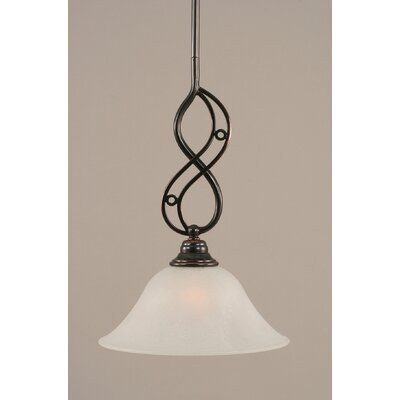 Jazz 1-Light Mini Pendant Shade Color: White