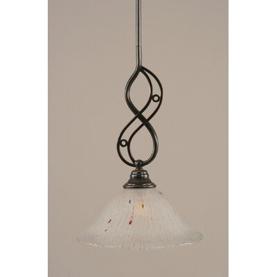 Jazz 1-Light Mini Pendant Shade Color: Frosted