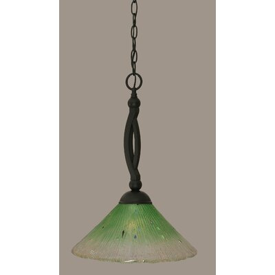Bow 1-Light Mini Pendant Shade Color: Kiwi Green, Size: 19