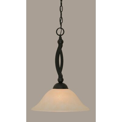 Blankenship Tiffany 1-Light Mini Pendant Shade Color: Amber