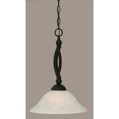 Blankenship Tiffany 1-Light Mini Pendant Shade Color: White