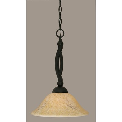 Blankenship 1-Light Matte Black Mini Pendant