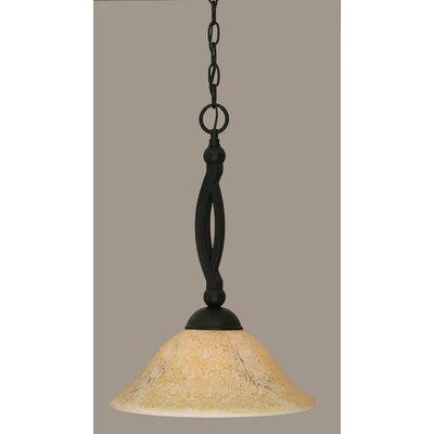 Blankenship 1-Light Matte Black Mini Pendant