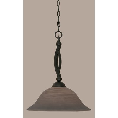Blankenship Contemporary 1-Light Mini Pendant Shade Color: Gray, Size: 19.75 H x 16 W