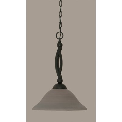 Blankenship Contemporary 1-Light Mini Pendant Shade Color: Gray, Size: 19 H x 12 W