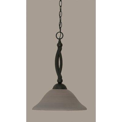 Blankenship Contemporary 1-Light Mini Pendant Shade Color: Gray, Size: 19 H x 12 W