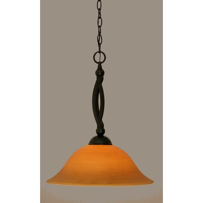 Blankenship Contemporary 1-Light Mini Pendant Size: 19.75 H x 16 W, Shade Color: Cayenne