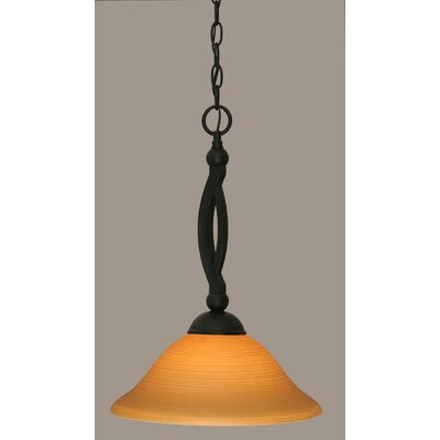 Bow 1-Light Mini Pendant Size: 19 H x 12 W, Shade Color: White