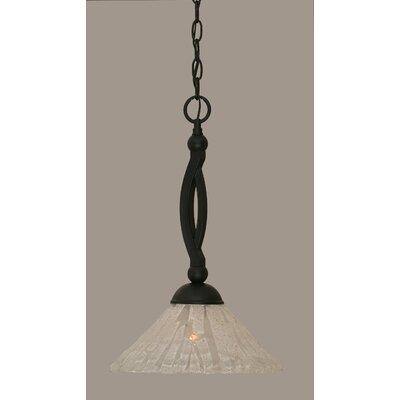 Eisenhauer 1-Light Matte Black Mini Pendant Size: 19 H x 12 W