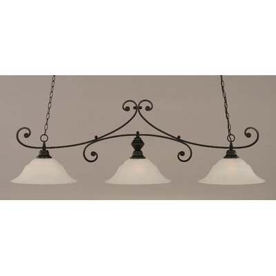 Babin 3-Light Billiard Light Shade Color: White, Finish: Matte Black