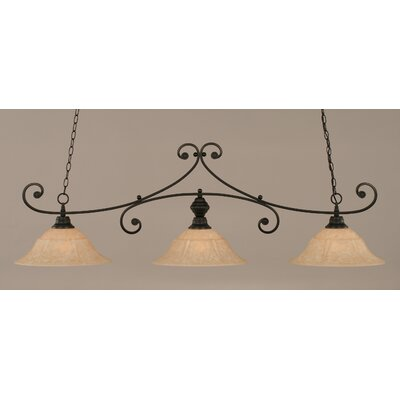 Babin 3-Light Billiard Light Finish: Matte Black