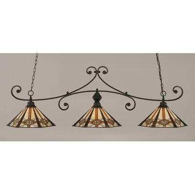 Dudley 3-Light Billiard Light Finish: Matte Black