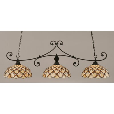 Copeland 3-Light Billiard Light Color: Matte Black