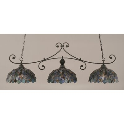 Copeland 3-Light Billiard Light Finish: Matte Black