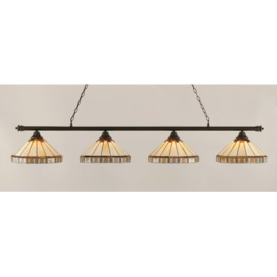 Passabe 4-Light Billiard Light Finish: Dark Granite