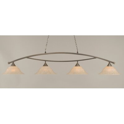 Blankenship 4-Light Kitchen Island Pendant Finish: Brushed Nickel