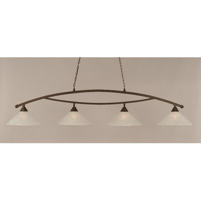 Bow 4-Light Kitchen Island Pendant Finish: Bronze