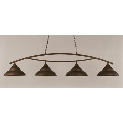 Bow 4-Light Billiard Light Finish: Bronze