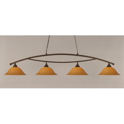 Blankenship 4-Light Billiard Light Finish: Bronze, Shade Color: Cayenne
