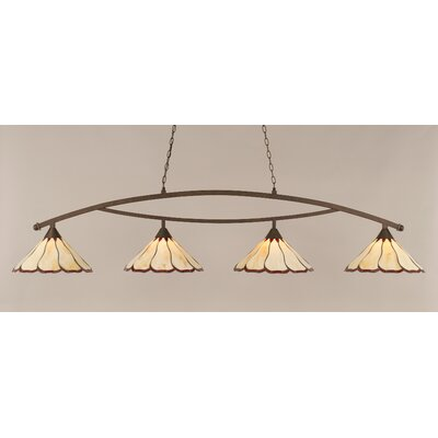 Austinburg 4-Light Billiard Light Shade Color: Honey and Burgundy