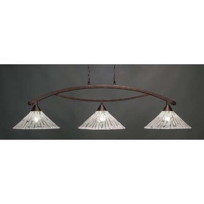 Bow 3-Light Billiard Pendant