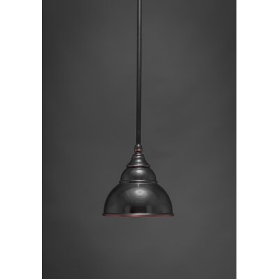 Brehmer Stem Mini Pendant With Hang Straight Swivel Finish: Black Copper